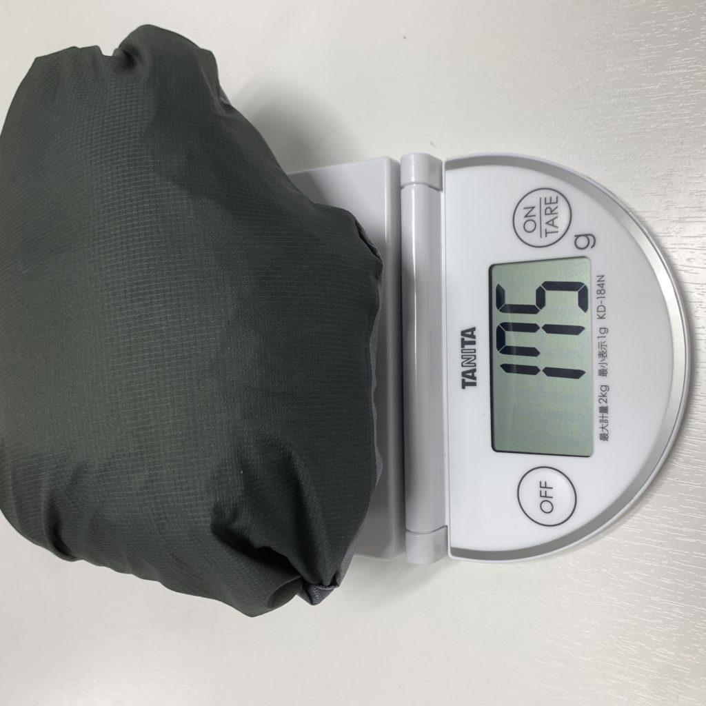 Mサイズ:実測175g