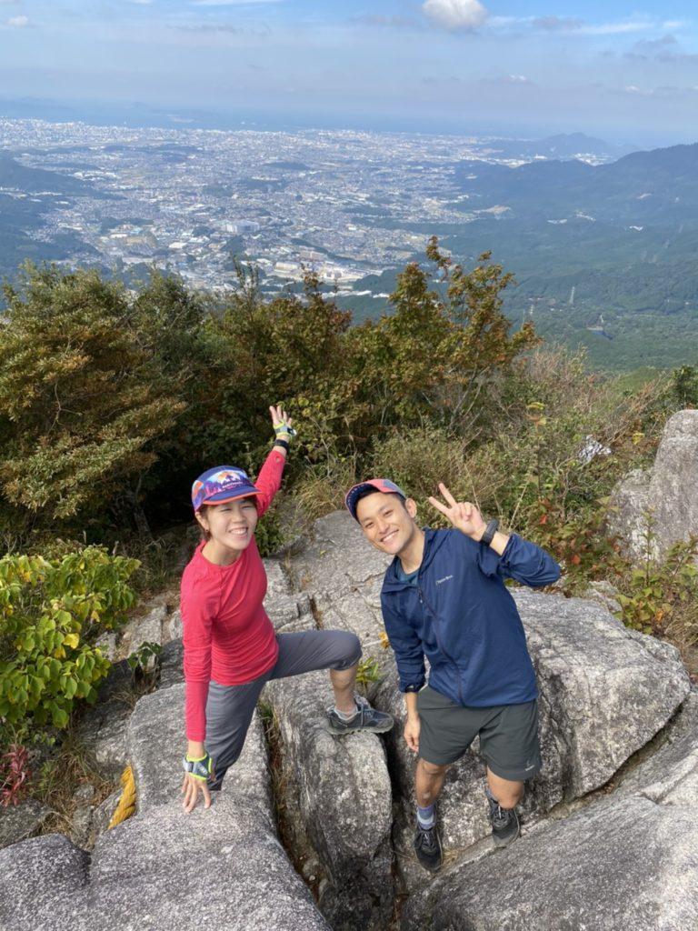宝満山の山頂にて